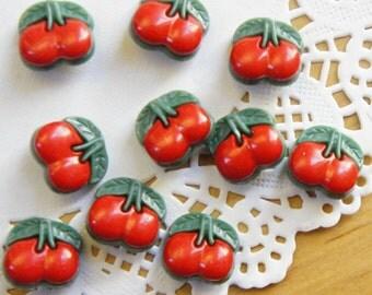 Retro Cherry Buttons (10pcs)