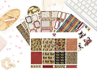 Classic Mr & Mrs Mouse Vertical Kit / Weekly Kit/ Erin Condren / Planner Stickers
