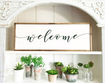 Welcome Sign, Welcome Home Sign, Rustic Home Sign, Housewarming Gift, Welcome wooden sign, Farmhouse Decor, Farmhouse Signs, Welcome rustic