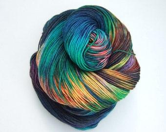 """Hand Dyed Yarn 100g Superwash Merino Wool, Nylon, sock weight """"Sirius 1"""""""