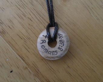 Wood pendant necklace, Scripture jewelry, Bible verse necklace, Scripture pendant, Verse pendant, wood burned pendant, Christian jewelry