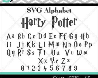 Harry Potter svg,Alphabet svg,Letters svg,Numbers svg,Cricut svg, SVG Files for Cricut,Silouette Studio, font svg,svg files,