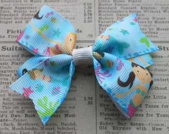 Mermaid Hair Bow, Hair accessories, girls hair bows, party favors, stocking stuffers