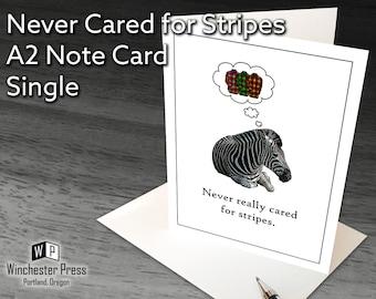 Funny Card for Man, Funny Birthday Card Plaid, Funny Zebra Card, Plaid Card, Funny Birthday Cards Men, Plaid Lover Card, Funny Zebra Card