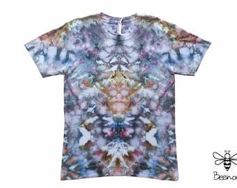 Ice Tie Dye Organic Cotton Men's T-shirt, Size L
