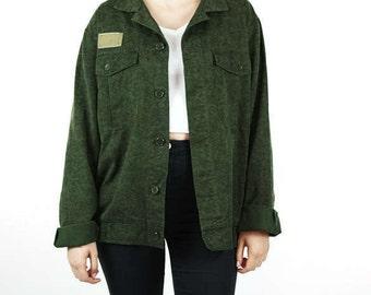 Authentic vintage  military jacket light camo print