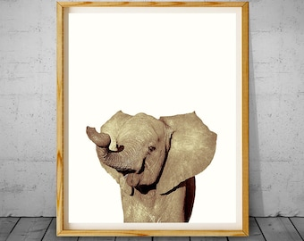 Elephant Print, Elephant Photography, Elephant Wall Art, Elephant Nursery, Elephant Art, Nursery Animal Art, Elephant Decor, Elephant Photo
