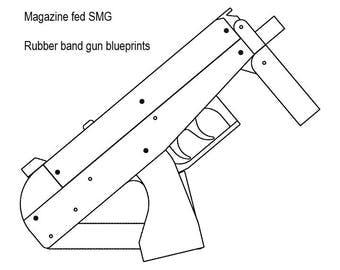 Magazine fed rubber band gun plans