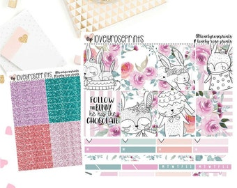 Floral Bunnies EC Vertical Weekly Kit