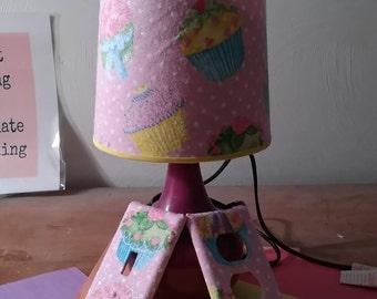 Cupcake theme lamp set