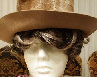 Vintage Women's Felt Faux Fur Hat