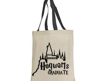 Harry Potter Tote Bag Hogwarts Graduate Gryffindor Slytherin no mag deathly hallows  fantastic beasts and where to find them  muggle wizard