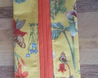 Notions Pouch 'Yellow Butterflies and Flowers'