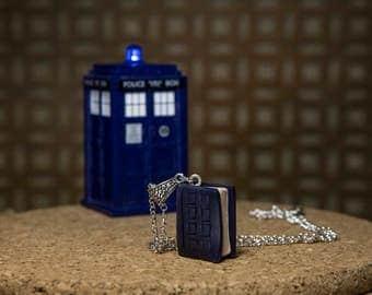 Doctor Who River Song Diary miniature book pendant, Replica jewelry, Film Movie jewelry, Whovian, 11 Doctor, Matt Smith, Alex Kingston