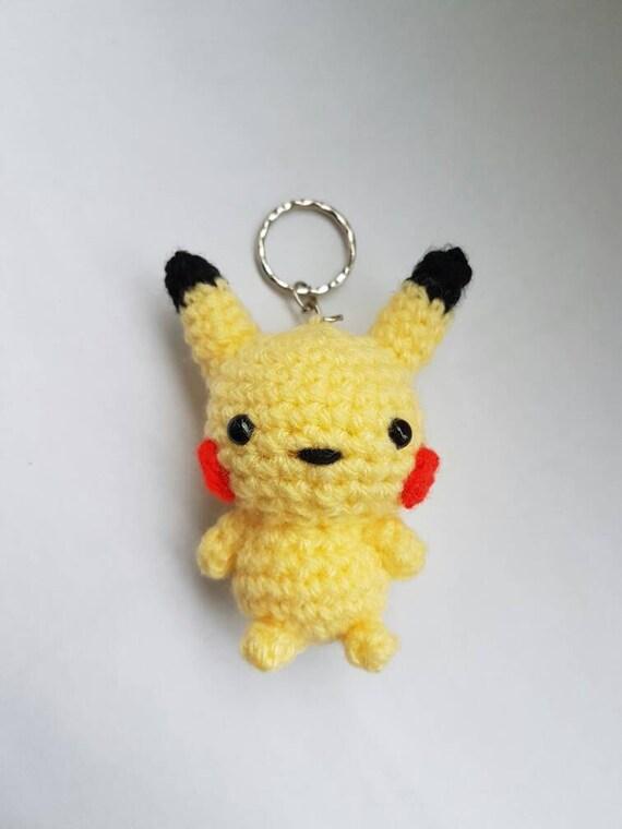 pikachu pok mon amigurumi crochet porte cl s porte cl en. Black Bedroom Furniture Sets. Home Design Ideas