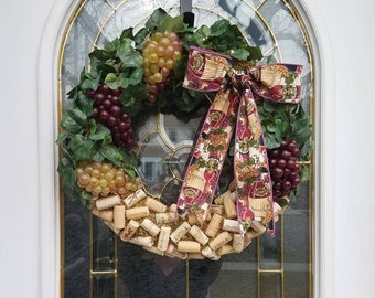 From Grapes to a Fine Wine Cork Wreath