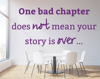 Motivational Wall Sticker One Bad Chapter Decal Vinyl Bedroom Living Room Office Stencil Art Gift