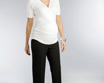 Tailored Maternity Trousers  - Maternity Pants - Plus Size Pants - Oversize Pants - Over bumb Maternity Pants - Straight Leg Trousers