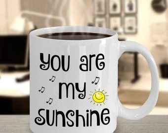 You Are My Sunshine Mug | Sentimental Gifts for Him, Boyfriend, Her, Girlfriend, Wife, Husband, Hubby, Anniversary, Birthday, Valentines Day