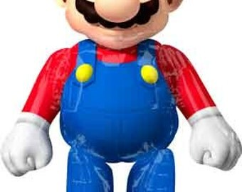 5 Foot Super Mario Balloon | Mario Birthday Party Decor | Birthday Balloons
