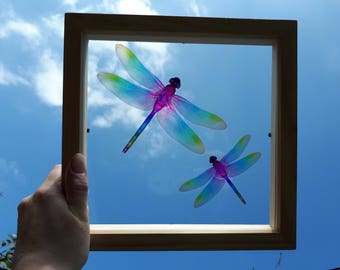 Mummy and Baby Dragonfly decoration/decal