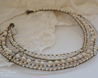 Wax Flower Headdress - Victorian Style Vintage circa 1920's - 1930's Orange Blossom Wedding Tiara / Wax Flower Bridal Crown