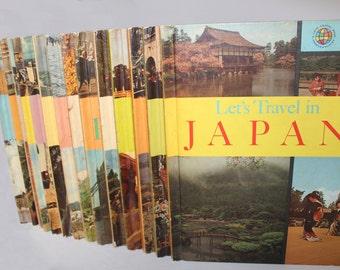 Vintage Let's Travel Book Set