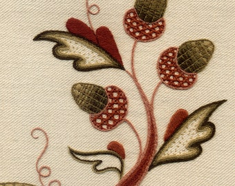 "Crewelwork Embroidery Kit, ""The Merry Monarch"""