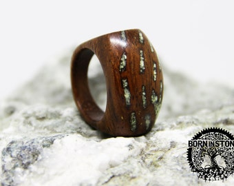 Mens wood ring Turquoise ring Womens wood ring Wood band Wood ring Wooden ring Ring for mens Ring for womens Husband gift For her For him