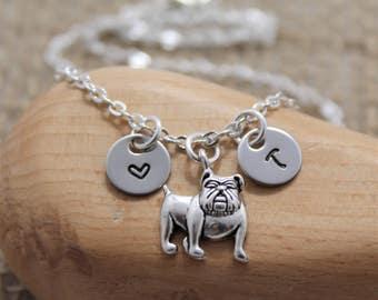 Bulldog Necklace - Bulldog Gifts - Bulldog Lover - Bulldog Jewelry - Personalized