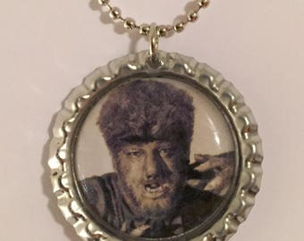 The Wolf Man Bottle Cap Pendant