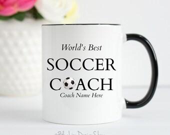 World's Best Soccer Coach Mug, Gift For Soccer Coach, Soccer Team Gift, Personalized Coach Mug, Soccer Gift, Soccer Coach Mug, Best Coach