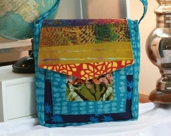 Mosaic Batik Computer Bag