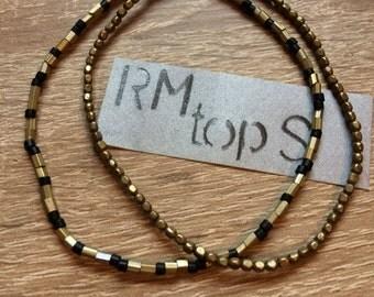 Bracelet 2 set unique of bracelet unique copper brass old copper gold and black