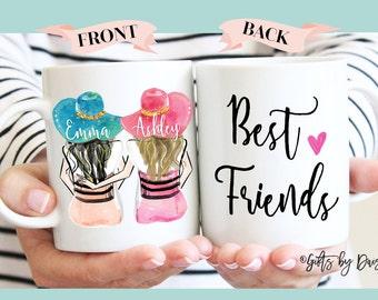 Gift, Personalized Best Friend Gift, Best Friend Gift, Valentine gift, Friendship gift, coffee mug, Unique Friendship Gift, Best friends