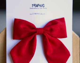Sale | Red Sailor Bow, Girls Hair Bow, Girls Hair Clip, Red Hair Bow, Red Hair Clip, Christmas hair bow, Christmas sailor bow.