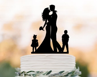 family silhouette wedding cake toppers cake topper silhouette child wedding cake topper 14183
