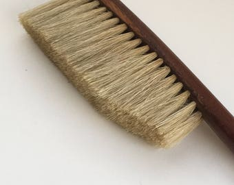 Vintage wood natural bristle brush Clothing Brush Upholstery Brush Collectible Brush