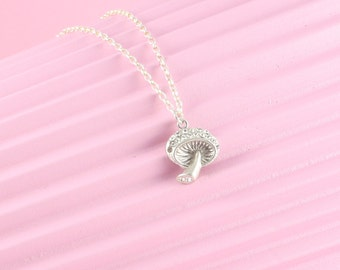 925 Silver chain with mushroom, mushroom, Toadstool