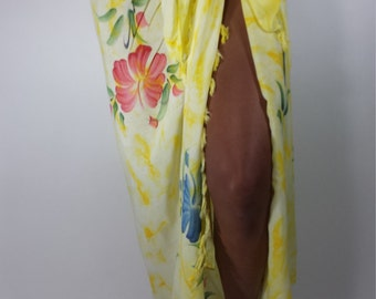 Tropical Pastel Flower Sarong