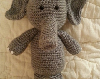 The Elephant Developemental baby toy, baby toy, preschool toy, quiet toy for baby, learning toy, baby learning toy, crochet baby toy