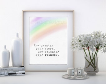 Rainbow- Digital Print