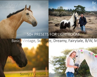 50+ Lightroom Presets: Sunflare, Dreamy, Fairytale, Basic Photo Presets, BW, Vintage, Retro + 5 FREE presets!