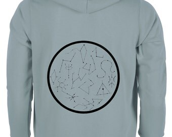 Sweatshirt Zip Constellations
