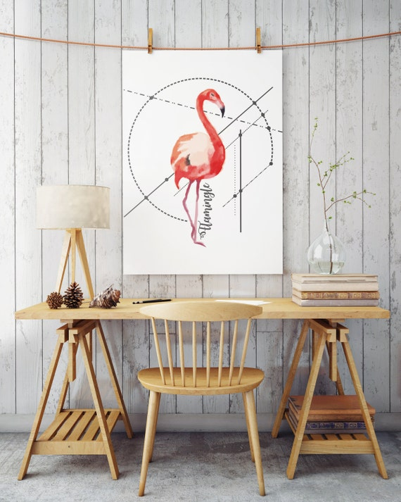 LET'S FLAMINGLE! | Flamingo art  | Wall art | poster art | printable art | art prints for sale | Posters | Artwork | Instant download