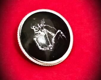 Misfits Pin, Skelton Badge, Skeleton Jewelry, Metal brooch, Black Badge, Punk Jewelry, Punk Badge, Art Pin, Band Jewelry, Australian made