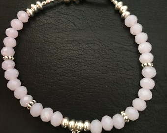 Radient Rose Quartz Bracelet! GORGEOUS! One of a kind!