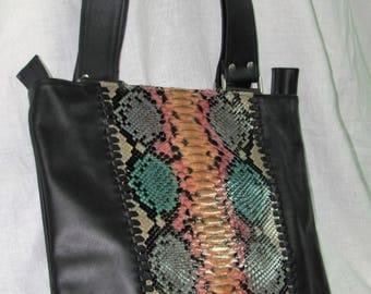 Skin of color Python bag.