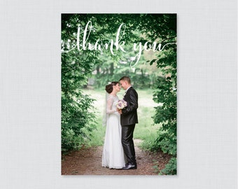 Printable OR Printed Wedding Thank You Cards - Photo Thank You Cards for Wedding - Personalized Thank You Cards, Custom Thank You Cards 0002
