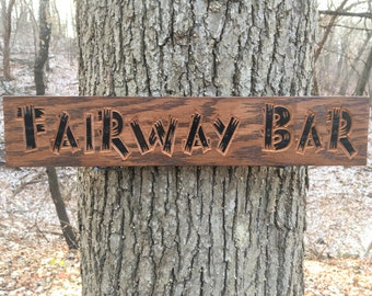 Custom Carved Rustic Sign, Personalized Rustic Carved Wood Signs, Custom Bar Sign, Personalized Bar Sign, Custom Wood Sign
